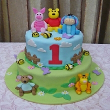 Winnie The Pooh Family Theme Cake AT2