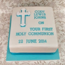 Baptism and Holy Communion Cake BH04