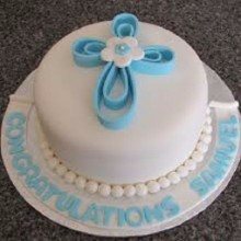 Baptism and Holy Communion Cake BH03