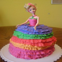 Colourful Lady Cake DC7