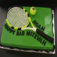 Tennis bat And ball Cake HS8
