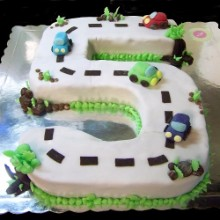 Racing Five Theme Cake NMC12