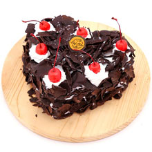 Black Forest Heart Shape Cake one Kg