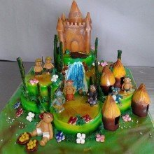 Chota Bheem Themed Cake 3D02
