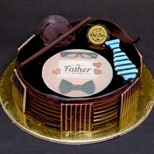 Double Chocolate Fathers Day Eggless Cake