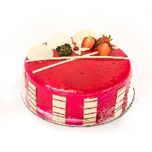 Satin Strawberry Cake Half Kg