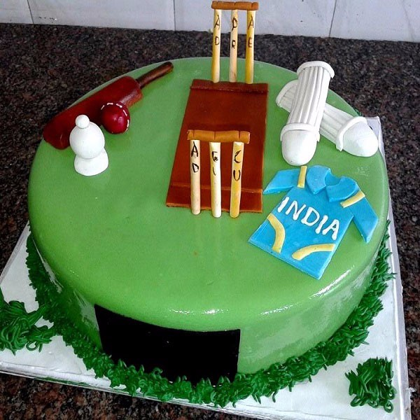 Cricket Pitch Cake 3D13